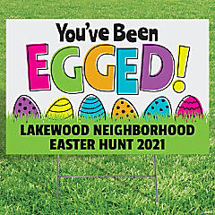 Personalized You've Been Egged Yard Sign