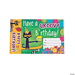Pete the Cat™ Groovy Birthday Bookmark Awards