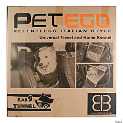 "Petego K9T Soft Car Tunnel Kennel 48""X25.5""X24""-Gray/Black"