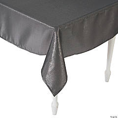 "Pewter Metallic Tablecloth - 60"" x 104"""
