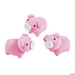 Pig Erasers - 24 Pc.