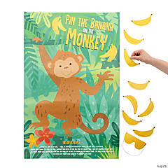 Pin the Banana on the Monkey Game