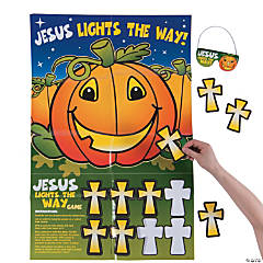 Pin the Cross on the Pumpkin Halloween Game