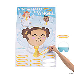 Pin the Halo on the Angel Party Game