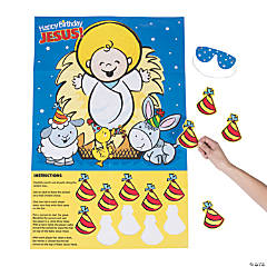 Pin the Party Hat on Baby Jesus Party Game