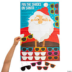 Pin the Shades on Santa Game