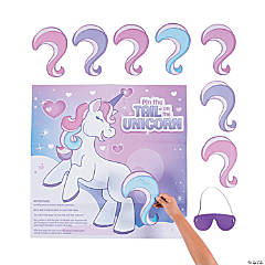 Pin the Tail on the Unicorn Valentine Game