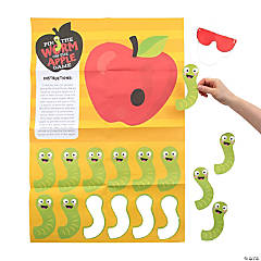 Pin the Worm on the Apple Game
