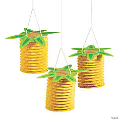 Pineapple Accordian Hanging Paper Lanterns