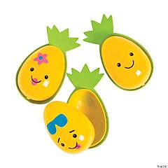 Pineapple Character Plastic Easter Eggs - 12 Pc.