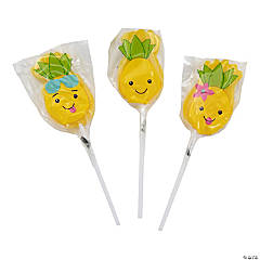 Pineapple Character Suckers