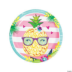 Pineapple 'N' Friends Paper Dinner Plates - 8 Ct.