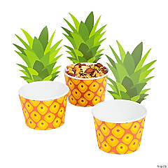 Pineapple Paper Snack Cups