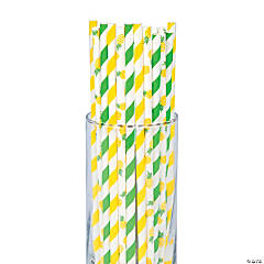 Pineapple Paper Straws