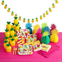 Pineapple Party Tableware Kit for 24 Guests