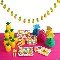Pineapple Party Tableware Kit for 8 Guests