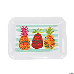 Pineapple Plastic Serving Tray