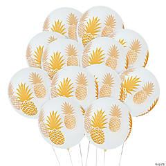 Pineapple Print Latex Balloons