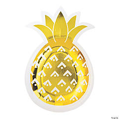 Pineapple-Shaped Paper Dessert Plates - 8 Ct.