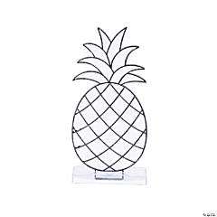 Pineapple Suncatchers with Stand