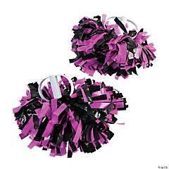 Pink & Black Spirit Cheer Pom-Poms