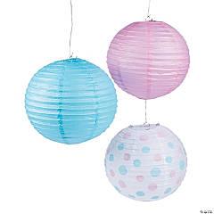 Pink & Blue Paper Lanterns