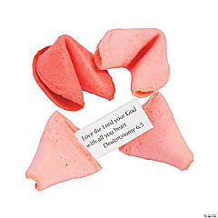 Pink & Red Bible Verse Fortune Cookies