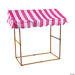 Pink & White Striped Tabletop Tent Kit