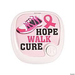 Pink Awareness Ribbon Pedometer