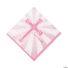 Pink Blessings Luncheon Napkins