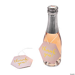 Pink Champagne Favor Tags