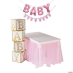 Pink Drive-By Baby Shower Decorating Kit