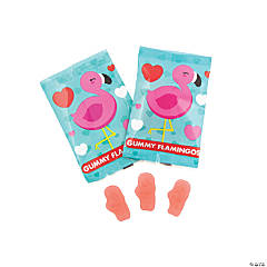 Pink Flamingo Gummy Candy Fun Packs