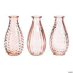 Pink Glass Bud Vases