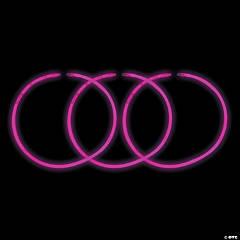 Pink Glow Plastic Necklaces
