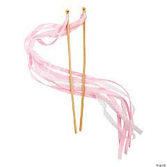 Pink Lace Ribbon Wands
