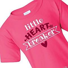Pink Little Heart Breaker Toddler T-Shirt