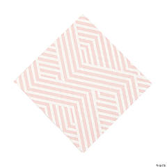 Pink Overlapping Chevrons Luncheon Napkins
