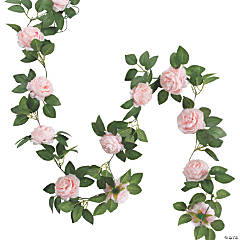 Pink Peony Faux Floral Garland