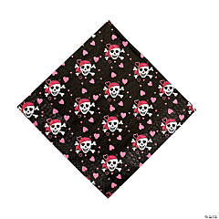 Pink Pirate Girl Luncheon Napkins (16 pc)