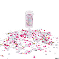 Pink Push-Up Confetti Poppers