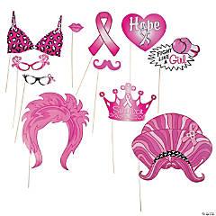 Pink Ribbon Photo Stick Props- 12 Pc.