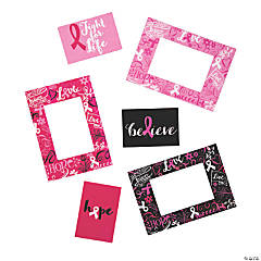 Pink Ribbon Picture Frame Magnets