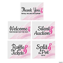 Pink Ribbon Raffle Poster Set