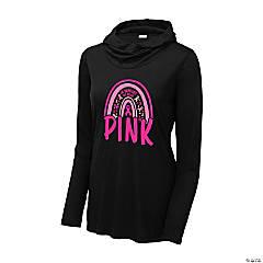 Pink Ribbon Rainbow Hoodie Women's T-Shirt - 3XL