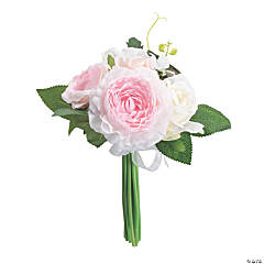 Pink Rose & Hydrangea Faux Floral Bouquet