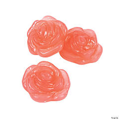 Pink Rose-Shaped Gummy Candy