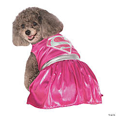 Pink Supergirl Dog Costume
