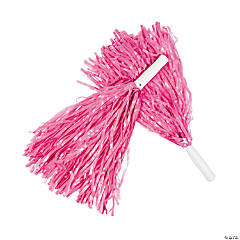 Pink Team Spirit Cheer Pom-Poms - 12 Pc.