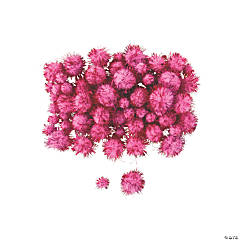 Pink Tinsel Pom-Poms